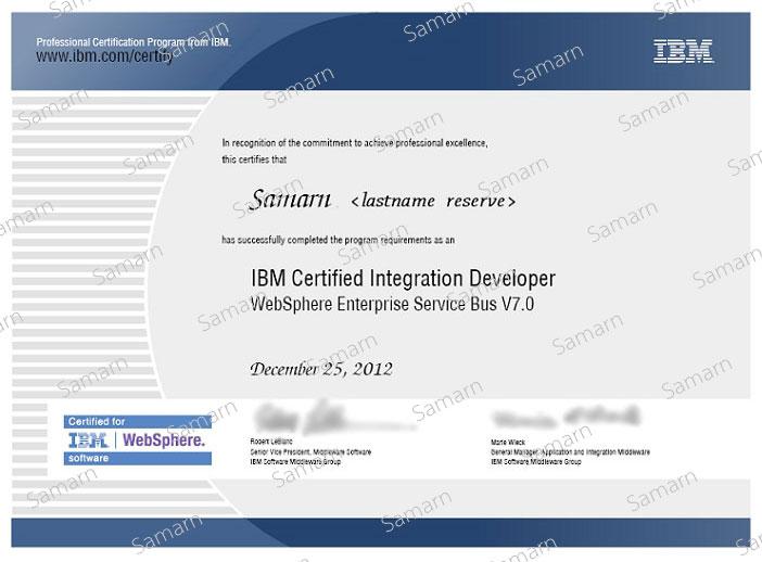 IBM Certified Integration Developer (Websphere ESB)